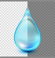 drop isolated on transparent background eps 10 vector image vector image
