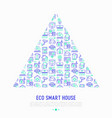 eco smart house concept in triangle vector image vector image
