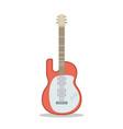 flat guitar musical instrument flat vector image vector image