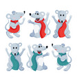 flat mouse animal set for vector image vector image