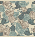 Flower paisley seamless pattern