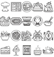 Food black line icons