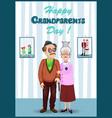 forever together greeting card grandparents vector image