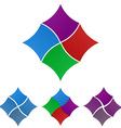 Geometric Flag Logo Set vector image vector image
