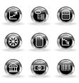 Glossy icon set 29 vector image