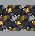 gold love concept icon repeatable motif vector image vector image