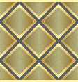 golden dotted squares seamless pattern vector image vector image