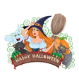 Halloween board composition vector image vector image