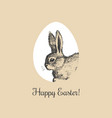 happy easter bunny vector image vector image