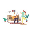 happy family couple home party concept man vector image vector image