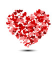 heart background with lot of valentines hearts vector image