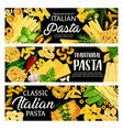 italian pasta herbs spices and olives vector image vector image