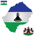 Kingdom of Lesotho Flag vector image