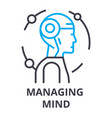 managing mind thin line icon sign symbol vector image vector image