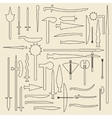 Medieval weaponry linear icons vector image vector image