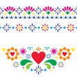 mexican floral and abstract design elements vector image
