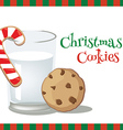 milk christmascookie vector image vector image