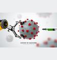 nano robot hand ai with corona virus covid19 19 vector image