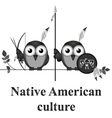 Native American culture vector image