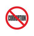 no corruption sign vector image