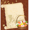 Old greeting paper vector image