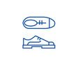 oxford shoes line icon concept oxford shoes flat vector image vector image