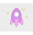 pink baby clip art rocket for scrapbook vector image vector image