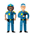 police policeman flat style colorful vector image vector image