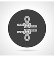 Rope knot black round icon vector image