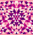 round abstract geometrical triangle kaleidoscope vector image vector image