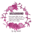 Round floral retro frame vector image vector image