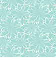 seamless background Flowers on a light blue vector image vector image