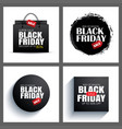 set of black friday sale abstract banner with vector image