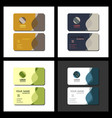 set of modern creative and clean business card vector image