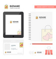Shopping bag business logo tab app diary pvc