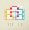 Short film photography icon concept color design vector image vector image