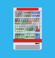 showcases refrigerators for cooling drinks vector image vector image