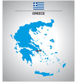 simple outline map of greece with flag vector image