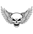 Skull with angel wings vector image vector image
