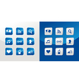 Social media icons glass vector image vector image
