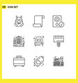 stock icon pack 9 line signs and symbols