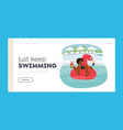summertime leisure vacation landing page template vector image