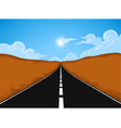 The road vector image vector image