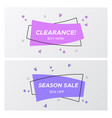 trendy violet flat sale tags in rectangle shape vector image vector image