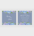 two wedding invitation cards seasonal flowerset vector image