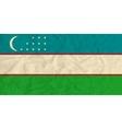Uzbekistan paper flag vector image vector image