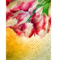 Vintage tulip wallpaper pattern EPS 10 vector image vector image