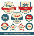 Vote 2012 lables vector image