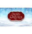 winter background with banner vector image vector image
