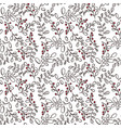 winter seamless pattern with berries vector image
